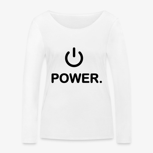 power - T-shirt manches longues bio Stanley & Stella Femme