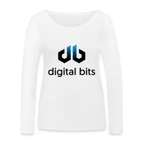 digitalbits Logo mit Schriftzug - Frauen Bio-Langarmshirt von Stanley & Stella