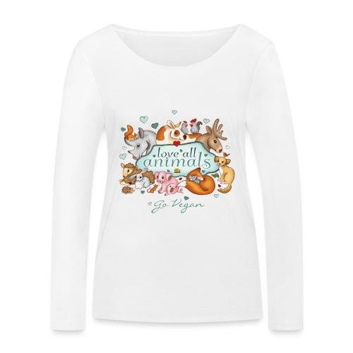 love all animals - go vegan - Women's Organic Longsleeve Shirt by Stanley & Stella