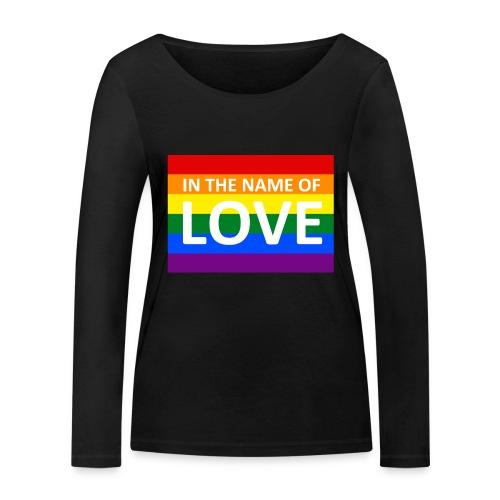 IN THE NAME OF LOVE RETRO T-SHIRT - Økologisk Stanley & Stella langærmet T-shirt til damer