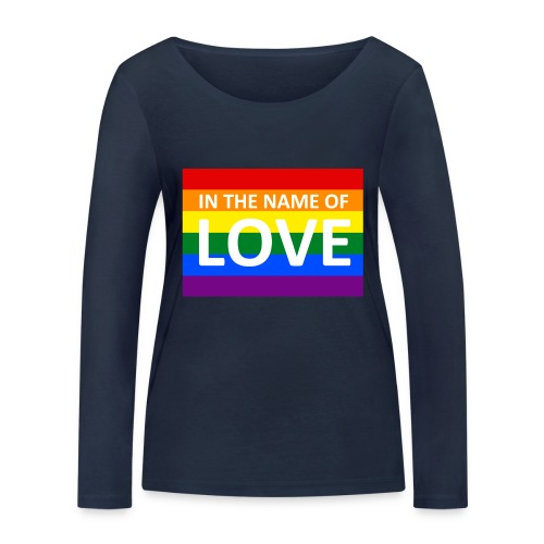IN THE NAME OF LOVE RETRO T-SHIRT - Økologisk Stanley & Stella langærmet T-shirt til damer