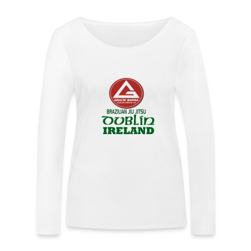 Gracie Barra Dublin Gaelic Celtic Font PNG - Women's Organic Longsleeve Shirt by Stanley & Stella