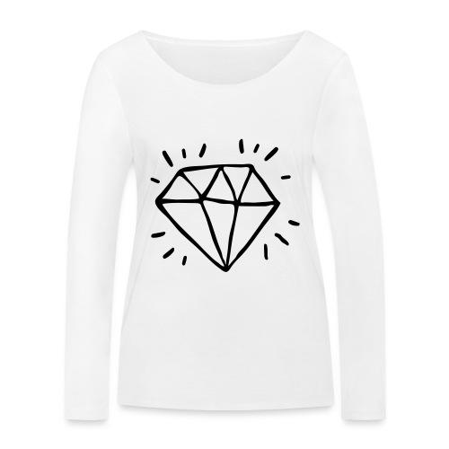 diamant - T-shirt manches longues bio Stanley & Stella Femme
