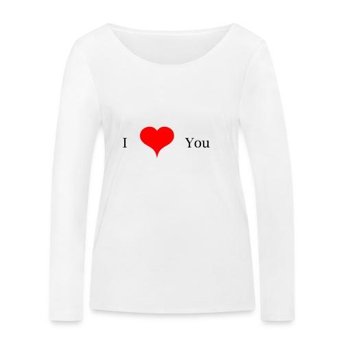 I Love you - Frauen Bio-Langarmshirt von Stanley & Stella