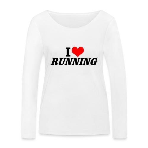 I love running - Frauen Bio-Langarmshirt von Stanley & Stella