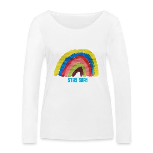Stay Safe Rainbow Tshirt - Women's Organic Longsleeve Shirt by Stanley & Stella