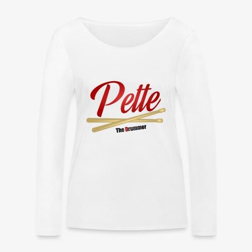 Pette the Drummer - Women's Organic Longsleeve Shirt by Stanley & Stella