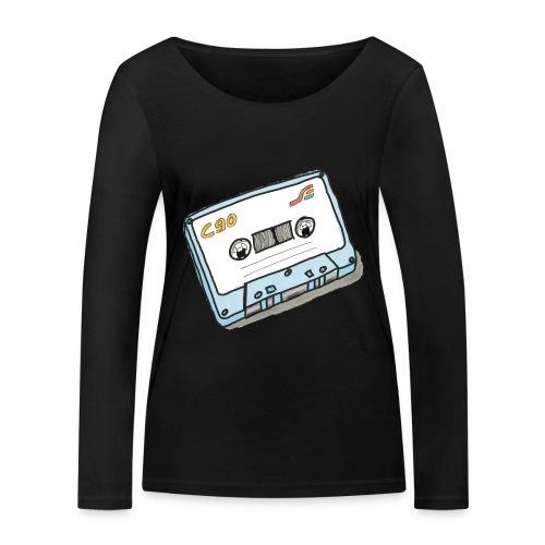 Cassette - Frauen Bio-Langarmshirt von Stanley & Stella