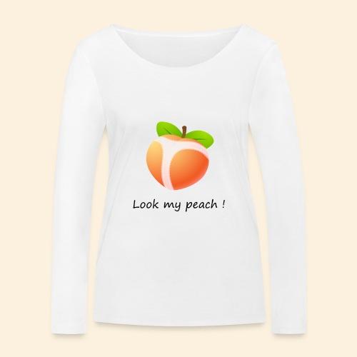 Look my peach - T-shirt manches longues bio Stanley & Stella Femme
