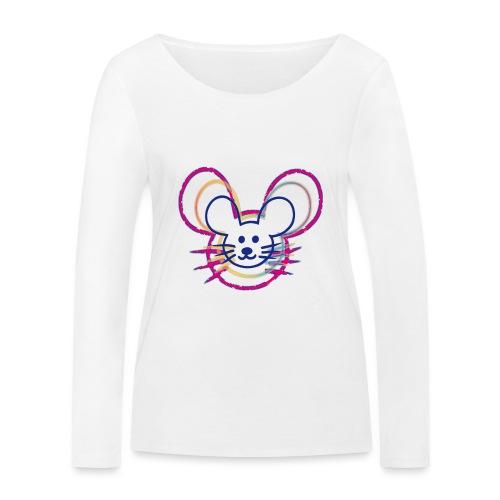 kleines Mausgesicht/Mäuse - Frauen Bio-Langarmshirt von Stanley & Stella