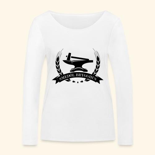 Smedöl Brygghus Logga Svart - Ekologisk långärmad T-shirt dam från Stanley & Stella