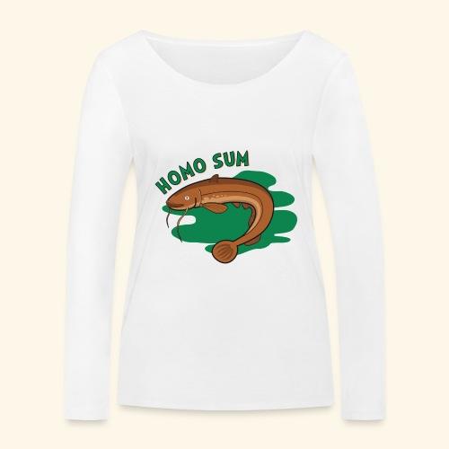 Homo sum ;) - Ekologiczna koszulka damska z długim rękawem Stanley & Stella