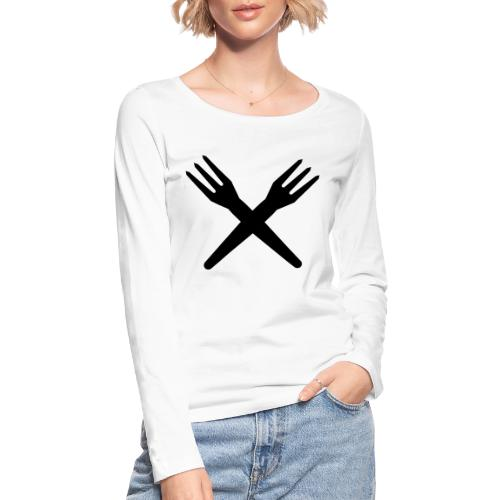gekruiste frietvorken - trident - T-shirt manches longues bio Stanley & Stella Femme
