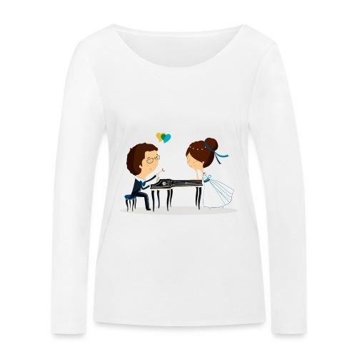 Nuestra Boda - Camiseta de manga larga ecológica mujer de Stanley & Stella