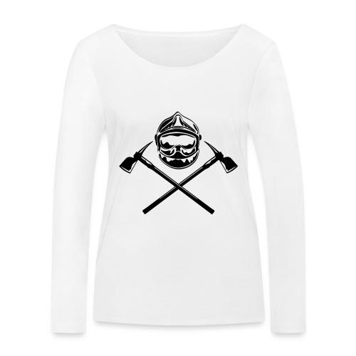 casque_pompier_deux haches - T-shirt manches longues bio Stanley & Stella Femme