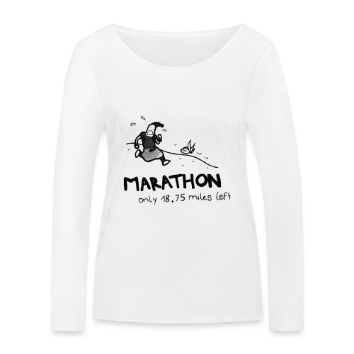 marathon-png - Ekologiczna koszulka damska z długim rękawem Stanley & Stella