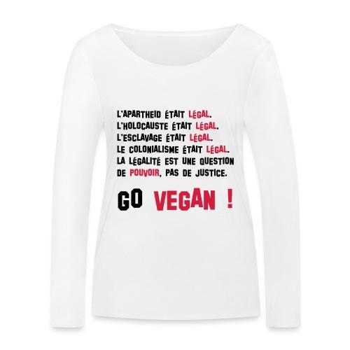 GO VEGAN - T-shirt manches longues bio Stanley & Stella Femme
