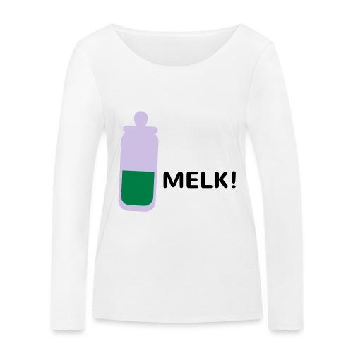Grappige Rompertjes: Melk - Vrouwen bio shirt met lange mouwen van Stanley & Stella