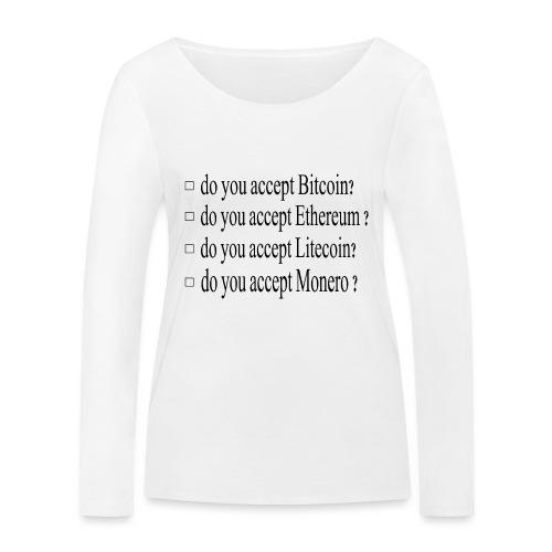 accepter - T-shirt manches longues bio Stanley & Stella Femme