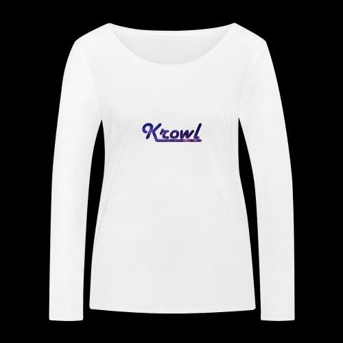 Krowl 1st Old Side Design - T-shirt manches longues bio Stanley & Stella Femme