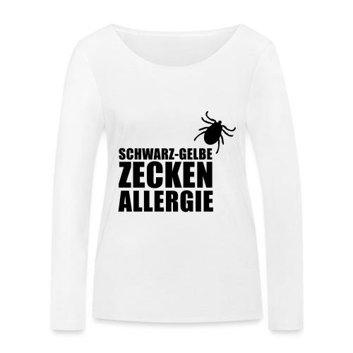 Schwarz-Gelbe Zeckenallerie - Frauen Bio-Langarmshirt von Stanley & Stella