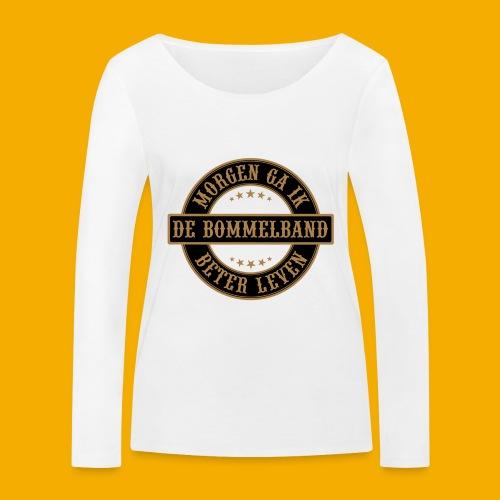 bb logo rond shirt - Vrouwen bio shirt met lange mouwen van Stanley & Stella