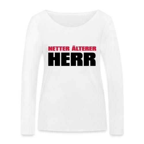 Netter älterter Herr - Frauen Bio-Langarmshirt von Stanley & Stella