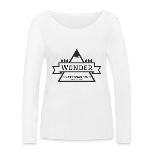 Wonder hoodie no hat - Mountain logo - Økologisk Stanley & Stella langærmet T-shirt til damer
