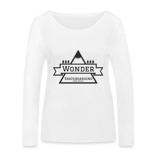 Wonder T-shirt: mountain logo - Økologisk Stanley & Stella langærmet T-shirt til damer