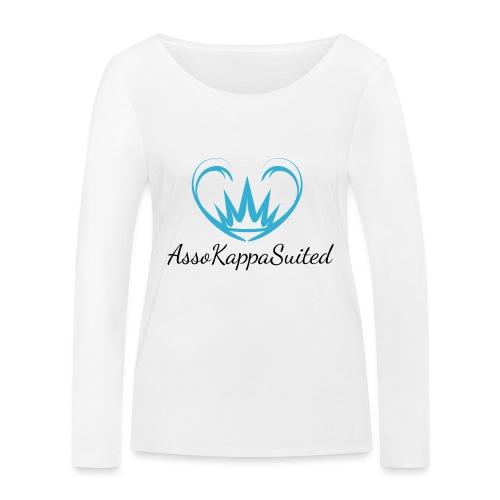AssoKappaSuited Blu - Maglietta a manica lunga ecologica da donna di Stanley & Stella