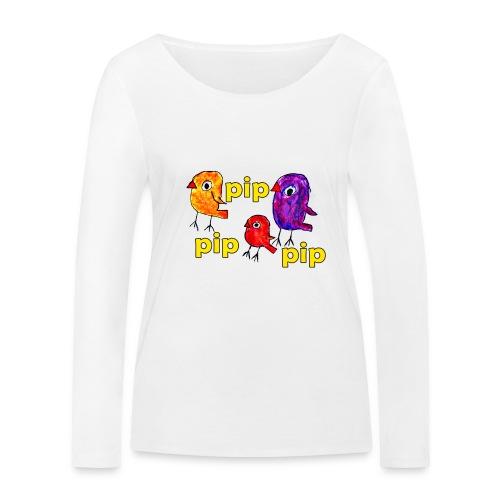3er original pip pip pip gelb - Frauen Bio-Langarmshirt von Stanley & Stella
