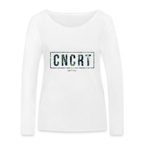 CNCRT white shirt (Plant Print) - Vrouwen bio shirt met lange mouwen van Stanley & Stella