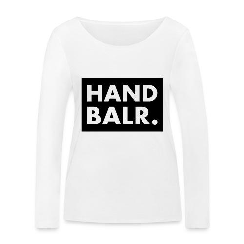 Handbalr Wit - Vrouwen bio shirt met lange mouwen van Stanley & Stella
