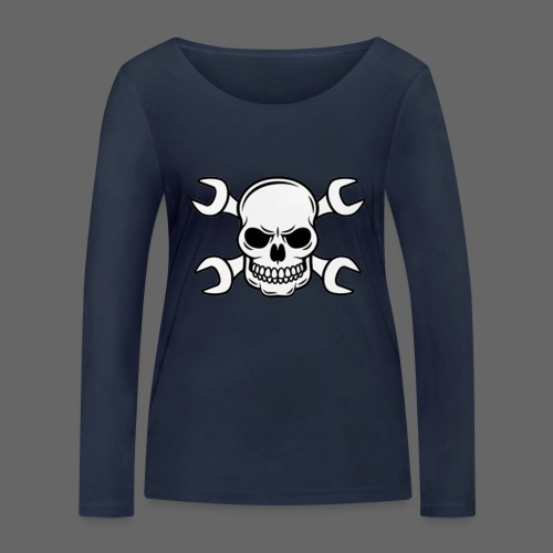 MEKKER SKULL - Økologisk Stanley & Stella langærmet T-shirt til damer