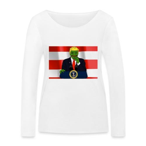 Pepe Trump - Women's Organic Longsleeve Shirt by Stanley & Stella