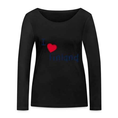 I Love Finland - Women's Organic Longsleeve Shirt by Stanley & Stella
