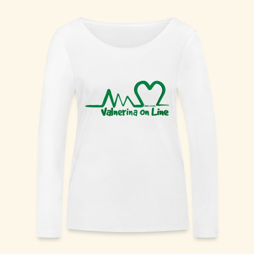 logo verde Associazione Valnerina On line - Maglietta a manica lunga ecologica da donna di Stanley & Stella