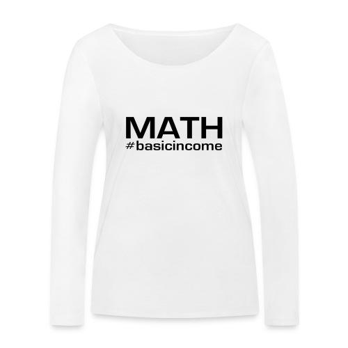 math-black - Vrouwen bio shirt met lange mouwen van Stanley & Stella