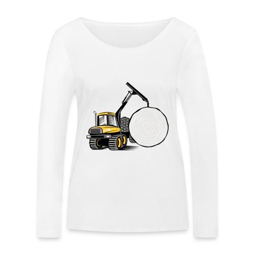 Kuormatraktori t paidat, hupparit, lahjatuotteet - Stanley & Stellan naisten pitkähihainen luomupaita