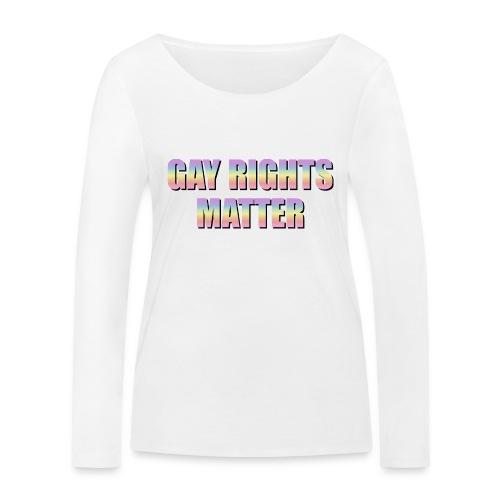 Gay Rights Matter pastel - Stanley & Stellan naisten pitkähihainen luomupaita