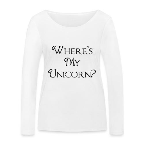 Where's My Unicorn - Women's Organic Longsleeve Shirt by Stanley & Stella