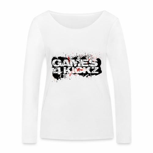 Games4Kickz Logo Splattered Background - Women's Organic Longsleeve Shirt by Stanley & Stella