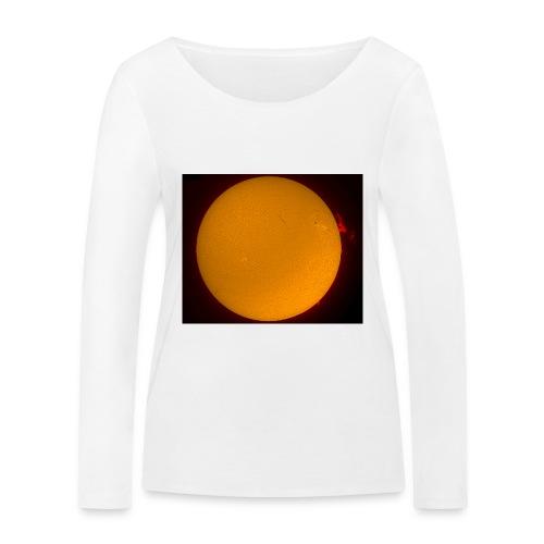 Sonne in H-Alpha - Frauen Bio-Langarmshirt von Stanley & Stella