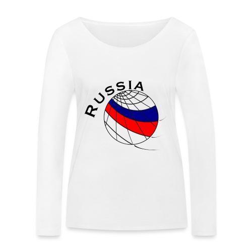Russland Fußballmotiv - Camiseta de manga larga ecológica mujer de Stanley & Stella