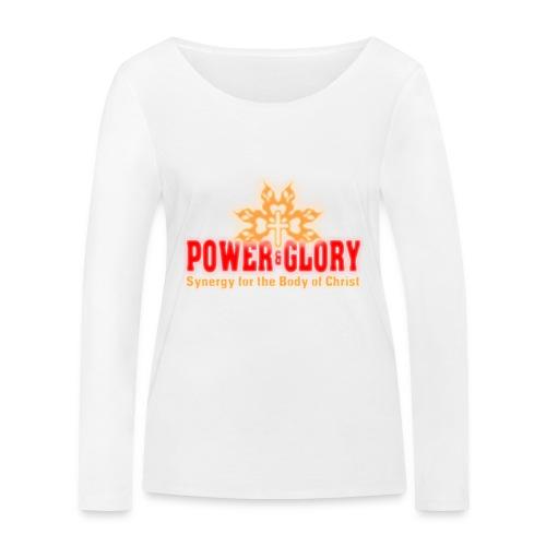 Power and Glory Logo glow red and orange - Women's Organic Longsleeve Shirt by Stanley & Stella