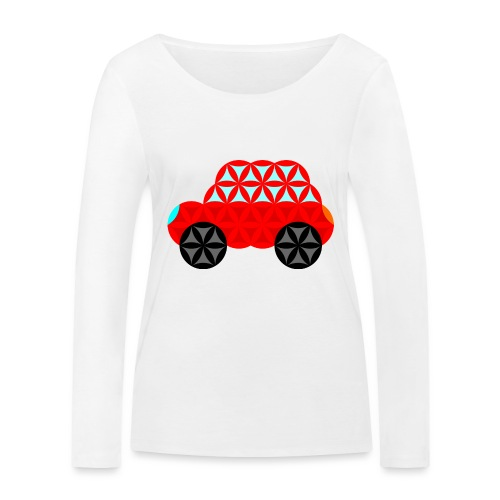 The Car Of Life - M01, Sacred Shapes, Red/R01. - Women's Organic Longsleeve Shirt by Stanley & Stella