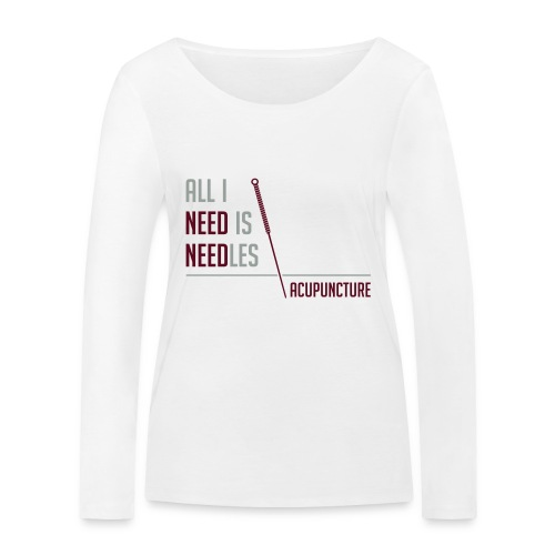 All I need is needles - T-shirt manches longues bio Stanley & Stella Femme