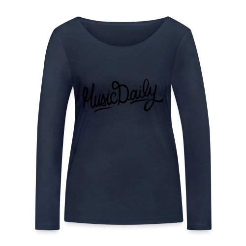 MusicDaily Logo - Vrouwen bio shirt met lange mouwen van Stanley & Stella