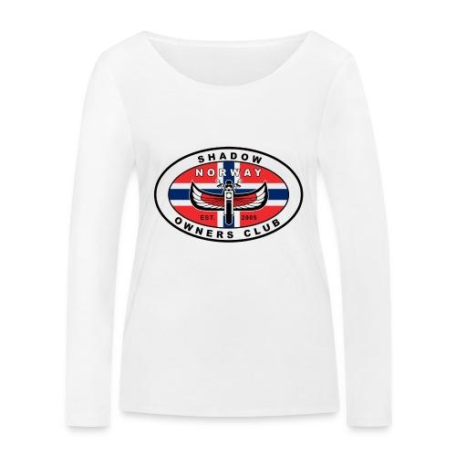SHOC Norway Patch jpg - Økologisk langermet T-skjorte for kvinner fra Stanley & Stella