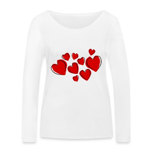 hearts herzen - Frauen Bio-Langarmshirt von Stanley & Stella